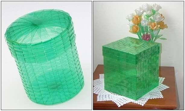 recycled-bottle Plastic Basket