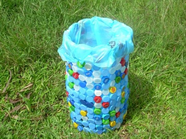 recycled bottle Trash Can