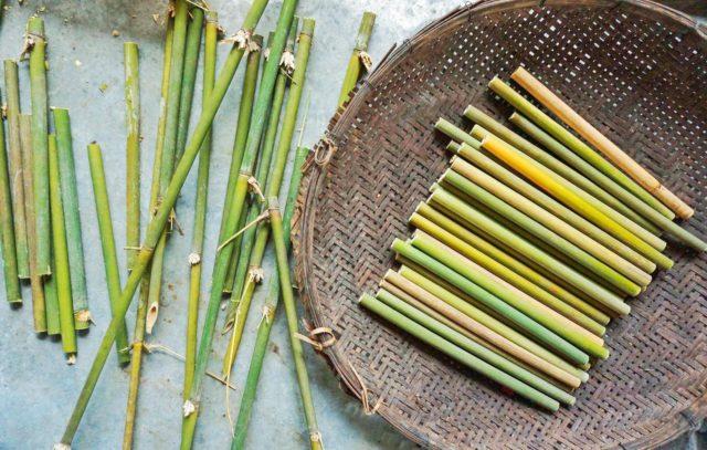 bamboo straws cut