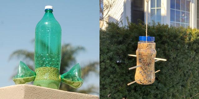 recycled-bottle-bird-feeder
