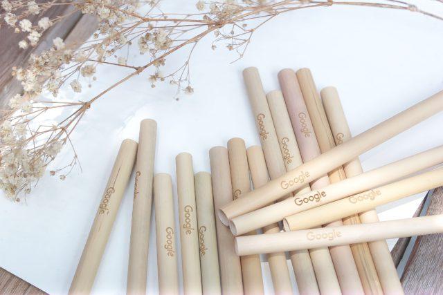 bamboo straw printed