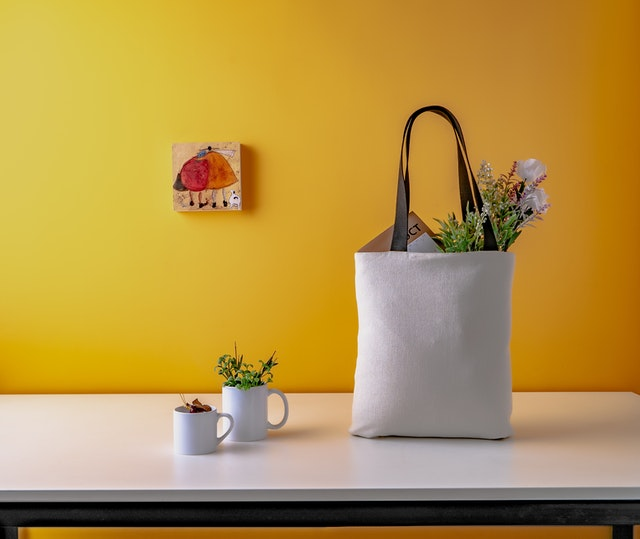 Canvas Grocery Shopping Bag