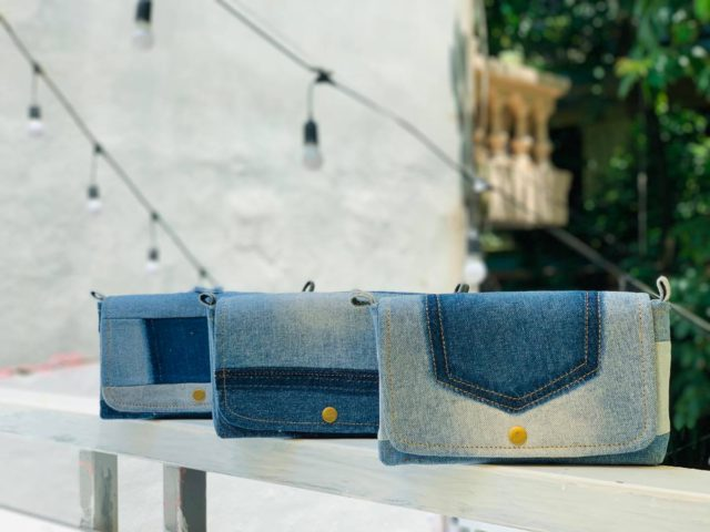 blue jeans handbags