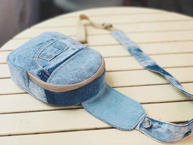 handmade denim crossbody bags