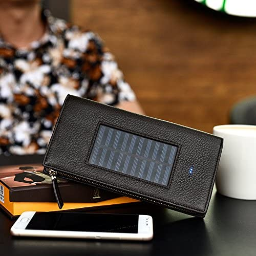 Solar Charging Battery Wallet for Eco-Friendly Shopping