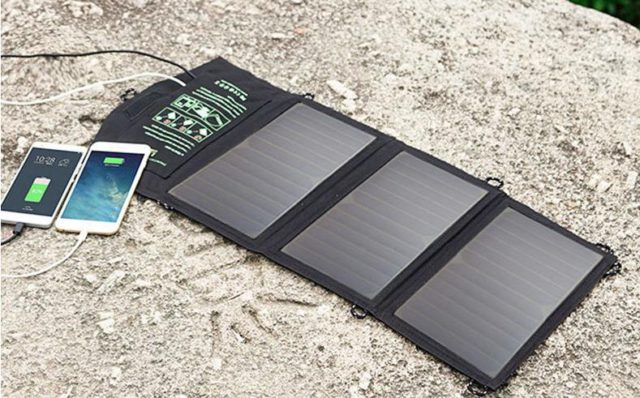 Solar Phone Charger for Eco-Friendly Shopping