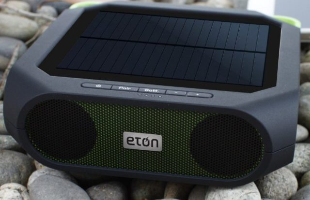 Solar-Powered Bluetooth Speaker for Eco-Friendly Shopping
