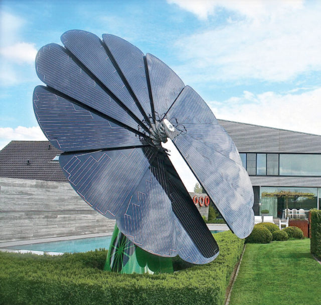 Sunflower Solar Power Station for Eco-Friendly Shopping