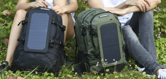 Solar backpack for Eco-Friendly Shopping