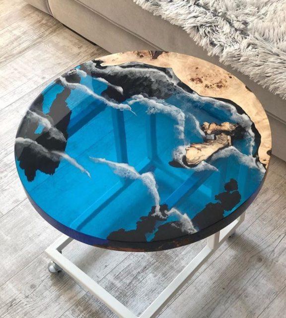 Epoxy wood tray