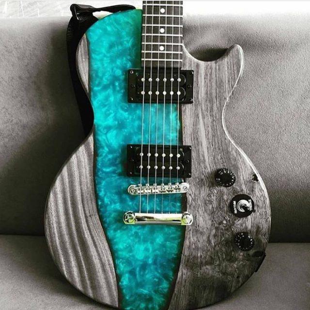 epoxy wood guitar